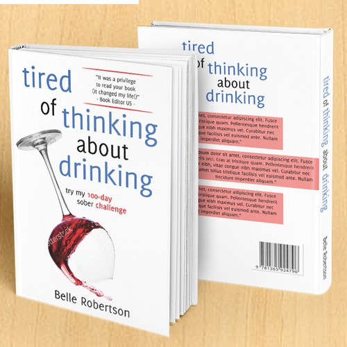 Book cover for Tired of Thinking about Drinking.