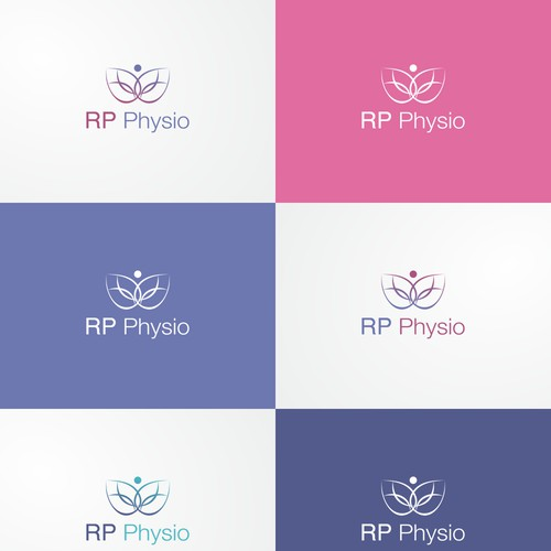 Logo concept for yoga and physiotherapy
