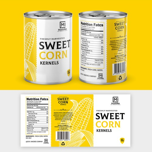 Sweet Corn Kernels Label Design