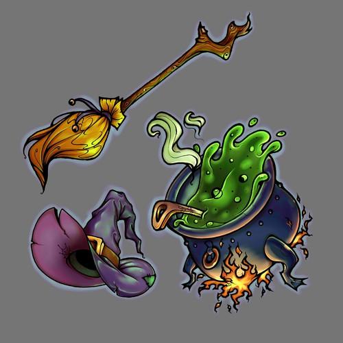 witch set