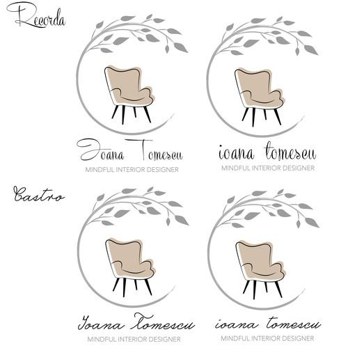 A non-typical logo for an interior designer