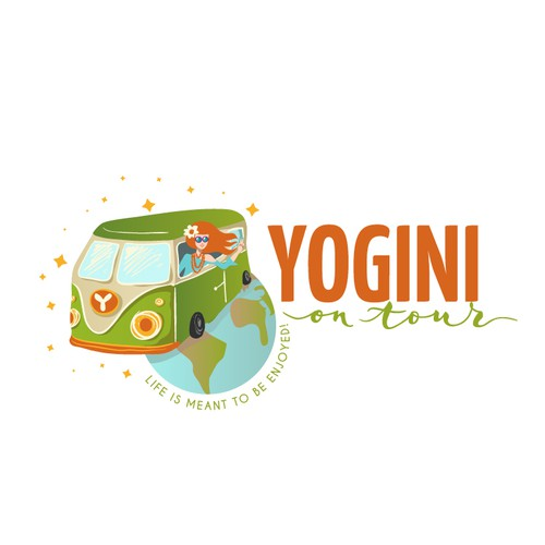 Hippie logo for yoga blog