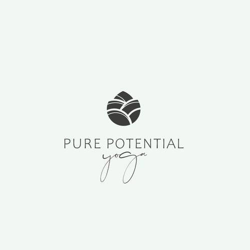 Pure Potential Yoga logo design