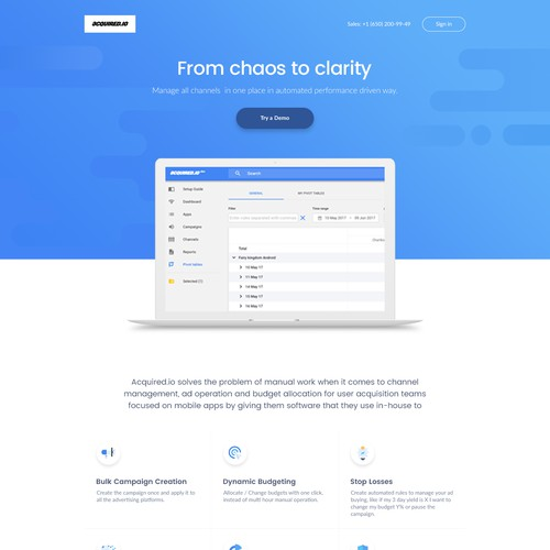 AIO Landing Page