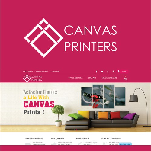 Design A Logo For Canvas Printers!