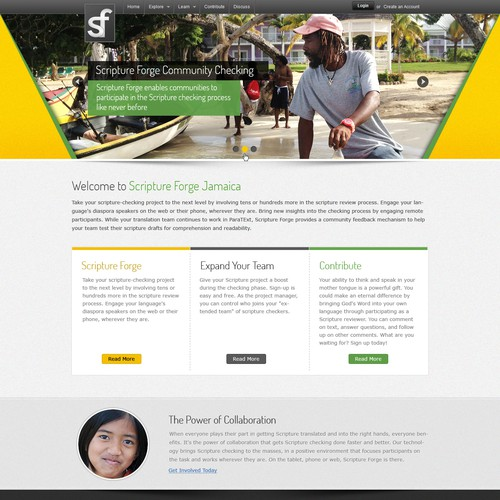 New landing page for Jamaican project