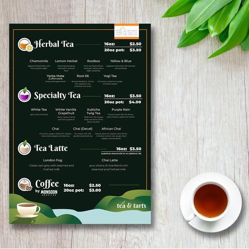 tea restaurant menu