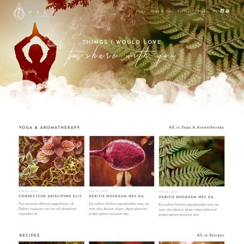Feed Your Spirit - creative, warm, touching web design