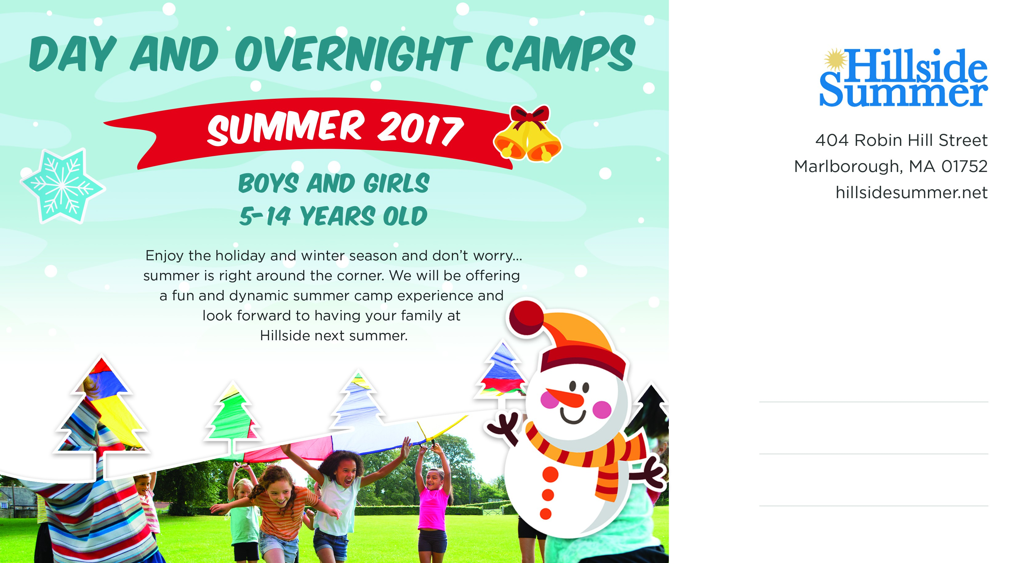 Hillside Summer Holiday Postcard