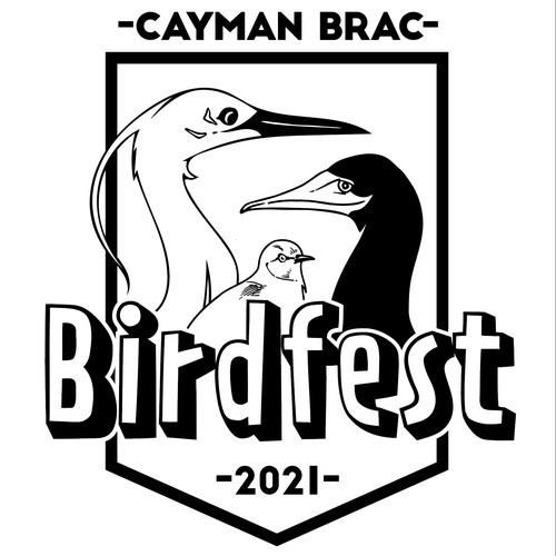 Cayman Brac's Birdfest Tshirt design