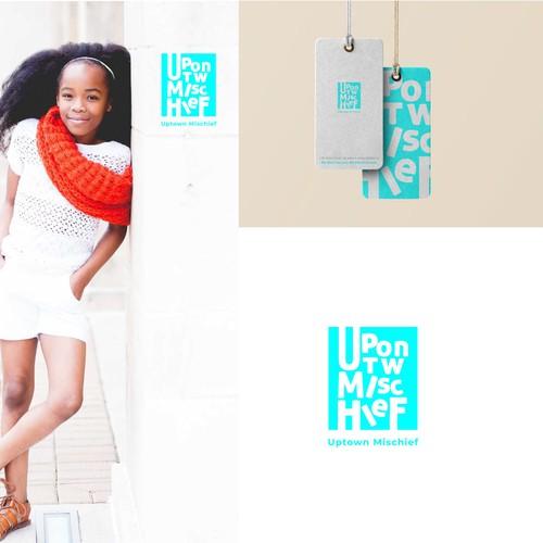 KIDS fashion logo ( uptown mischief)