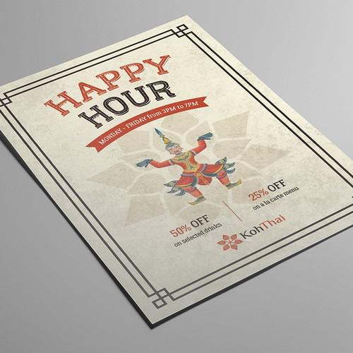 KohThai Happy Hour poster