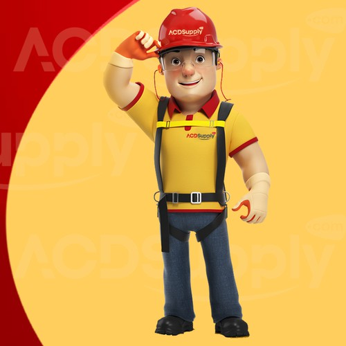 Mascot for company in 3d - construction / equipment