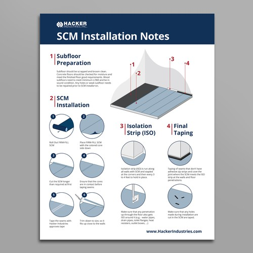Floor mat installation instructions flyer