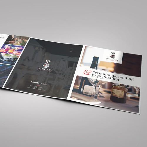 Bartending Service needs an elegant brochure