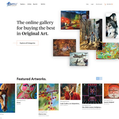 Web Art Gallery Design Concept