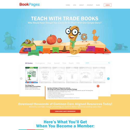Educational books | Website Design