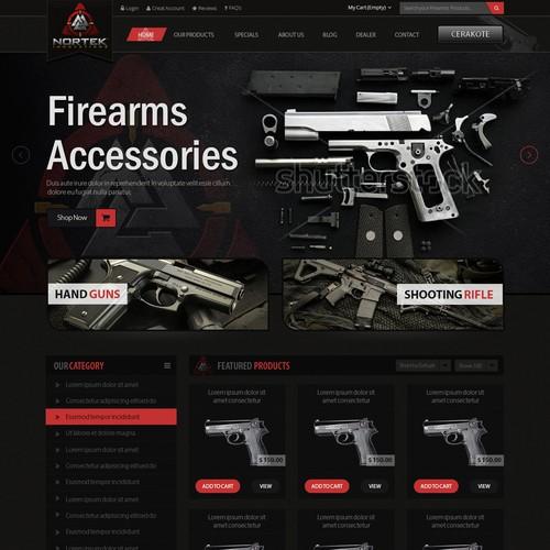 Website for Firearms Manufacturer