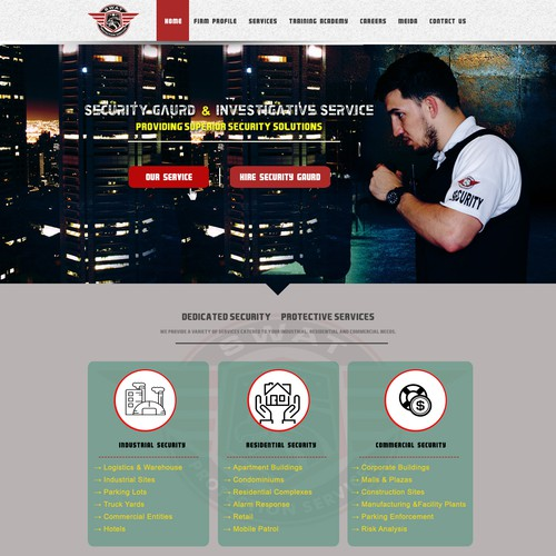 simple web page for swat company