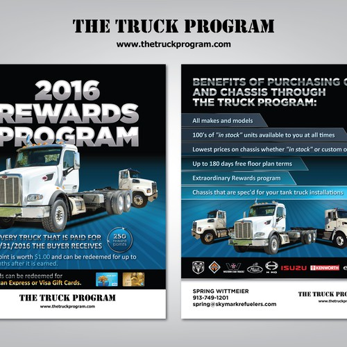 2016 Rewards Program Flyer