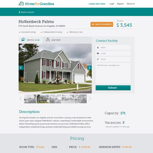 Create a Listing Page for our Listing Website