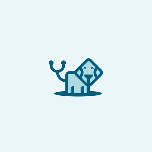 Design a modern logo for a veterinary practice