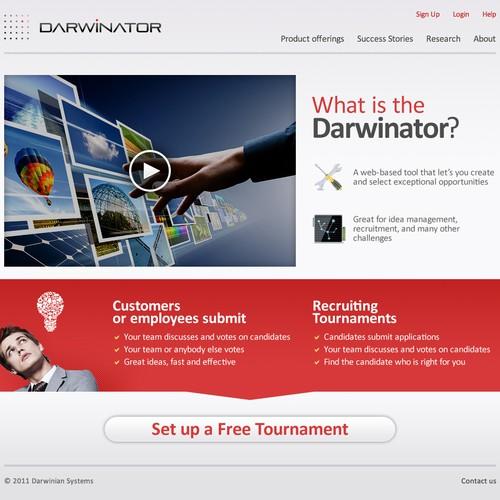 website design for Darwinator