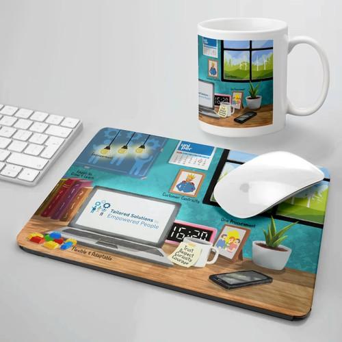Mousepad & Mug design