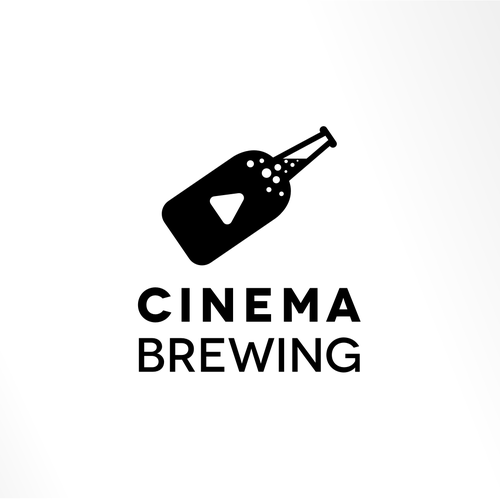 Cinema Brewing Logo Design