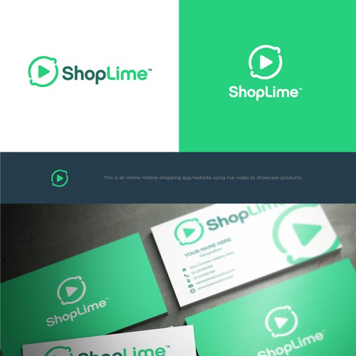 Simple, clean and professional logo concept for ShopLime.