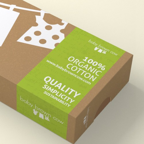 100% Organic Baby Clothing Packaging Design