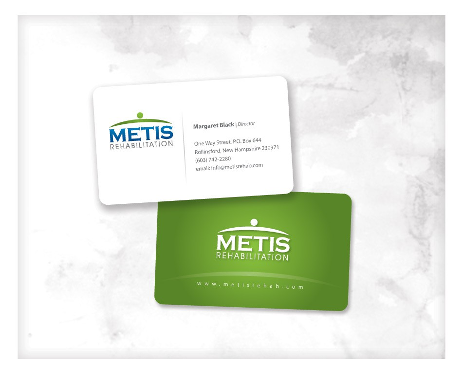 Create the next stationery for Metis Rehabilitation