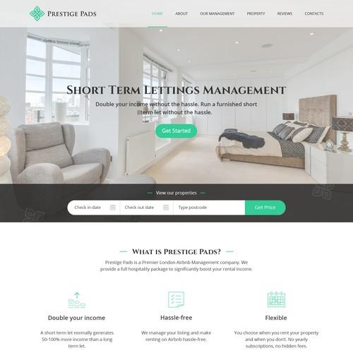Prestige Pads web site design