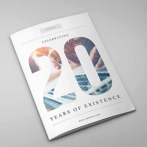modern design for a brochure/magazine for 20 years research