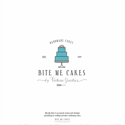 Upscale custom cake boutique logo design