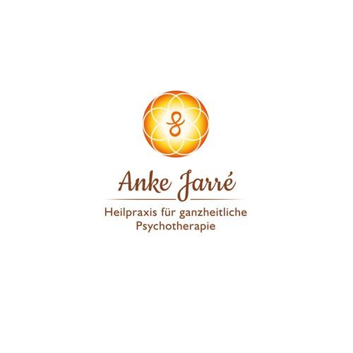 """Logodesign """"Anke Jarré"""" Heilpraxis für ganzheitliche Psychotherapie"""