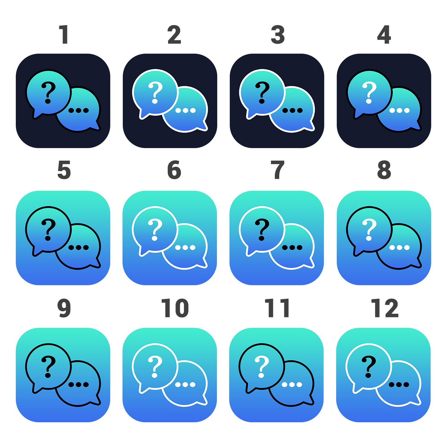 APP ICON design for Messaging app ~ GUARANTEED ~ $50 add on