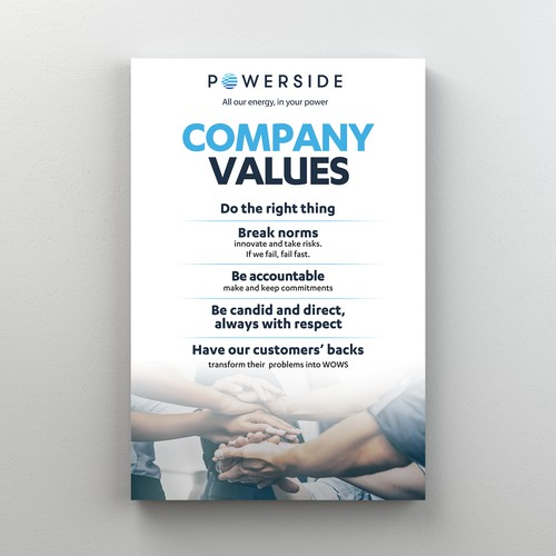 Poster (Company Values)
