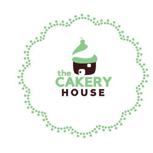"I want a Logo for a small cakery company called ""THE CAKERY HOUSE"""
