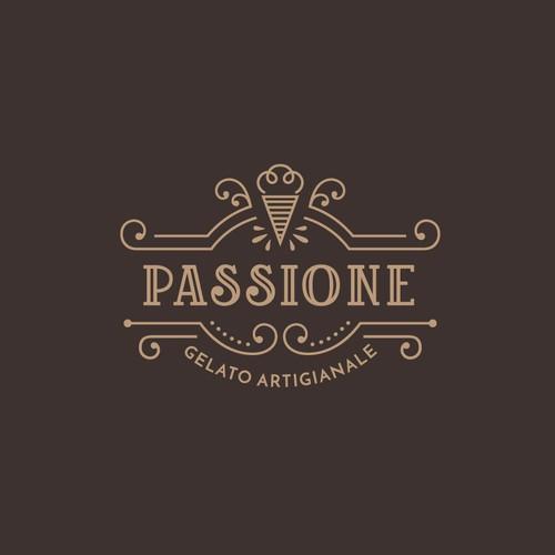Luxurious + creative logo for a gelato brand