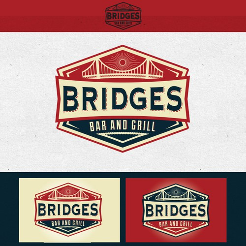 Create the next logo for Bridges Bar & Grill