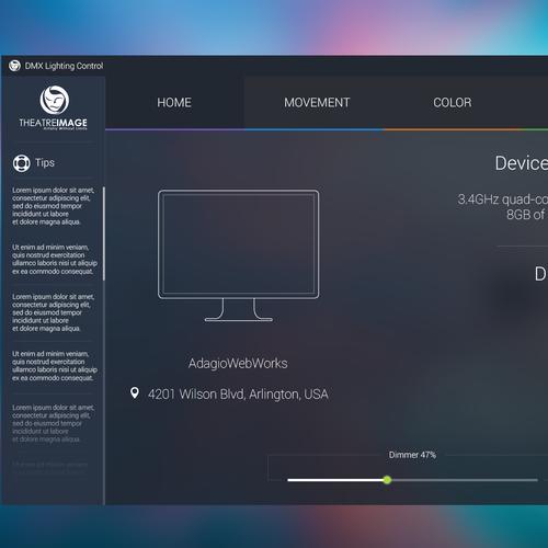 UI Design for Emerging DMX Lighting Control Software