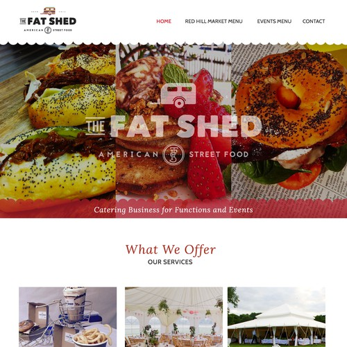 The Fat Shed Homepage Design