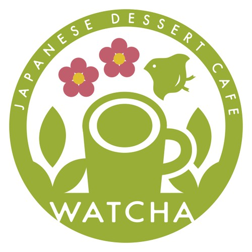 Logo for Japanese tea cafe.