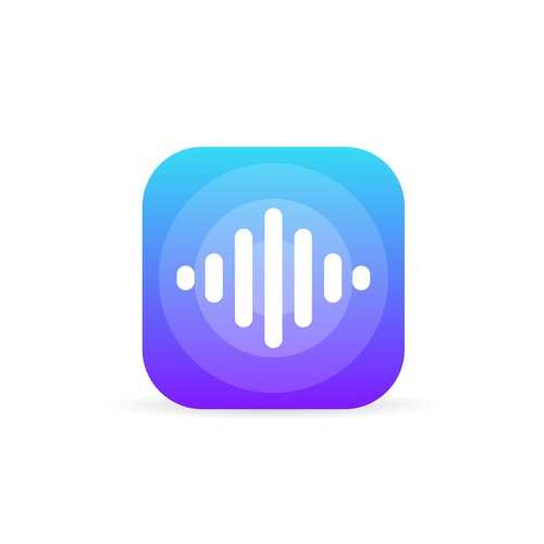 Clean App Icon for Music Player Apps