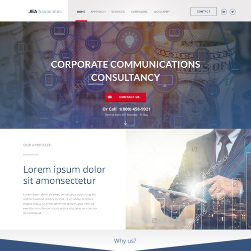 Simple & Bold Web design for modern media relations company