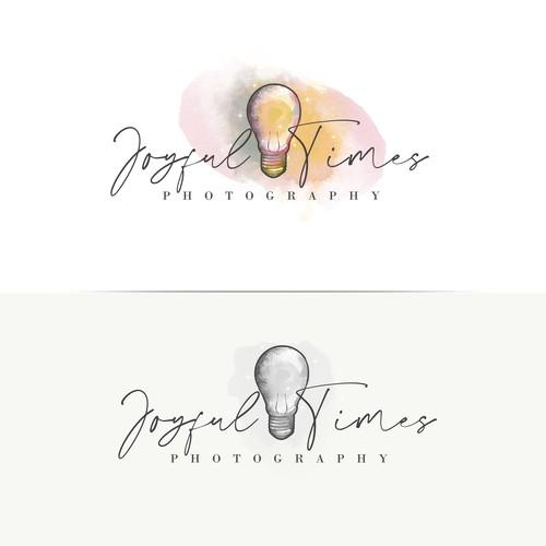 Playful and vintage Lightbulb photography logo