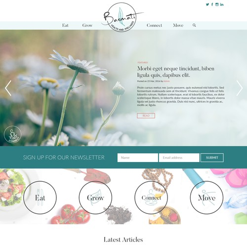 Holistic Lifestyle Blog Design