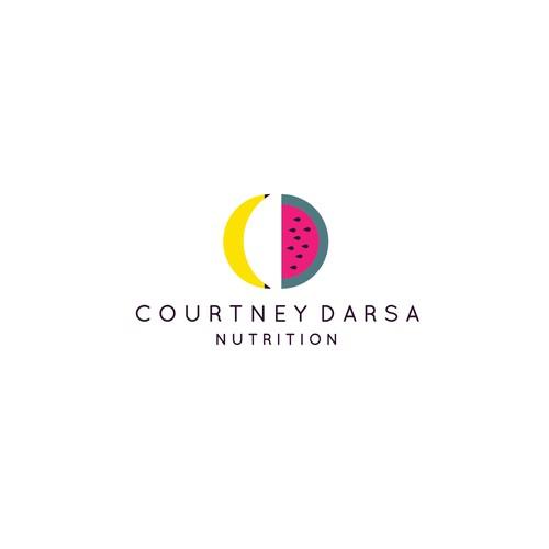 Minimalist logo for a nutritionist