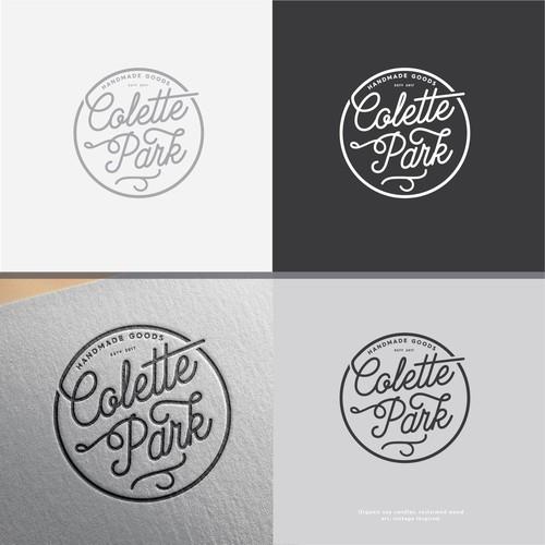 modern letter form logo for colette park